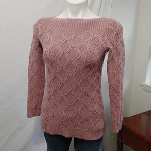 Ann Taylor Loft Cable Knit Wool Sweater sz M